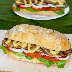 Delicious beef Irish sandwich